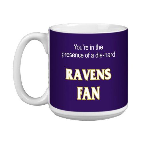 Tree-Free Greetings Xm28109 Ravens Football Fan Artful Jumbo Mug, 20-Ounce