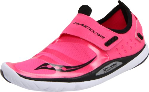 SAUCONY Hattori Ladies Running Shoes, Pink/Black, UK6.5