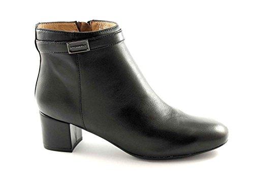 STONEFLY 105102 nero scarpe donna tronchetto pelle zip