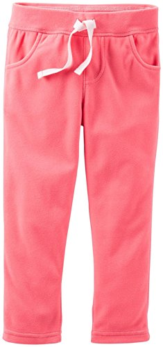Carter's Baby Girls' Microfleece Pants (Baby) - Coral - 18 Months