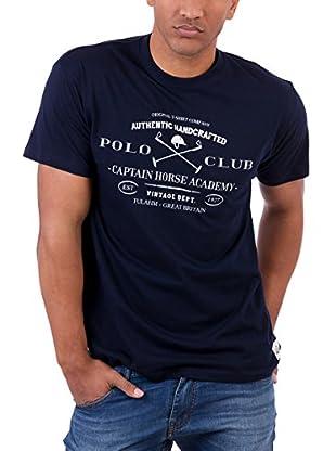 Polo Club Camiseta Manga Corta Academy Vintage Tshirt (Azul Marino)