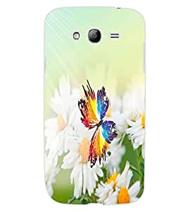 ColourCraft Butterfly and Flowers Design Back Case Cover for SAMSUNG GALAXY GRAND I9082