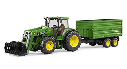 bruder-3055-tractor-john-deere-7930-con-pala-frontal-y-remolque