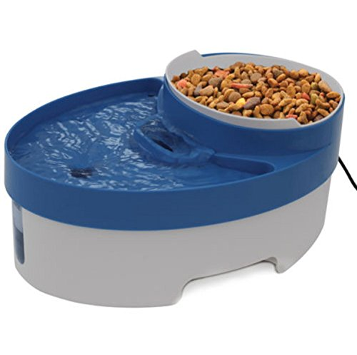 Fountain Water Pet Filter Dog Cat Replacement Pump Drinkwell Bowl Automatic Food Bowl Dish Feedier Dispenser 3 In 1 (Battery Water Bowl Heater compare prices)