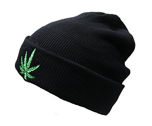 Crispy-Women-Winter-Warm-Knit-Hat-Snow-Ski-Caps-With-Visor-Selection-Beanie-With-Marijuana