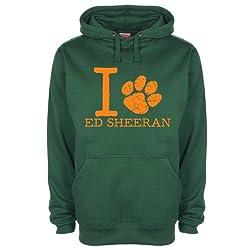 Art Hustle Mens Womens Unisex I Love Ed Sheeran Paw Hoodie