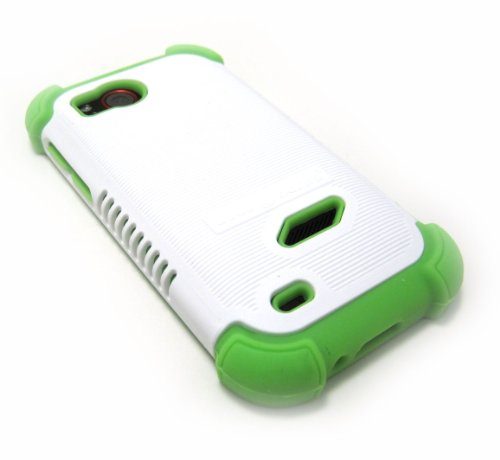 Cell-Nerds Nerdshield Grip Case Cover White And Green Compatible With The Htc Rezound (Verizon)