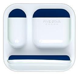 Five Star Locker Organizer, Tri-Pocket with Dry Erase Surface, 7 x 7.5 Inches, White with Cobalt Blue Pockets (72622)
