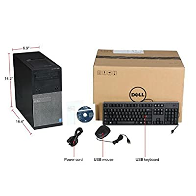 Dell Optiplex 3020 3 Years Onsite Warranty MiniTower Business Desktop ----Intel Quad-Core i5-4790 Processor 6M...