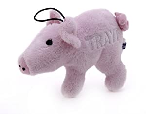 Copa Judaica Chewish Treat 7 by 9-Inch Pig Trayf Squeaker Plush Dog Toy, Small