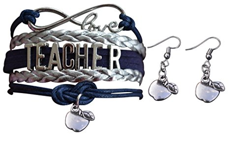 Teacher Gift- Teacher Jewelry Set, Teacher Bracelet & Teacher Earrings. Show Your Teacher Appreciation