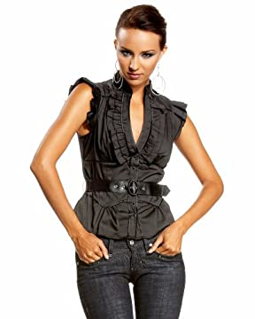 bebe.com : Western Belted Ruffle Top :  vhiv belted bebe western