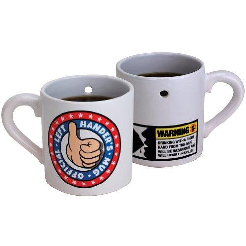 Left Handers Only Gag Mug Trick Drink Coffee Cup Funny Joke Gift