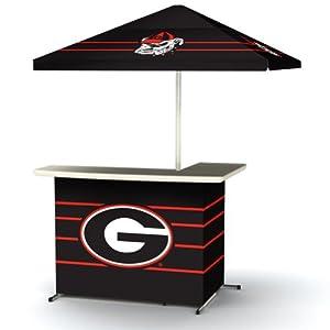 NCAA Georgia Bulldogs Portable Wheel Bag Travel L-Shape Umbrella Basic Bar Black by Best of Times