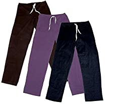 Indistar Women's Stretchable Premium Cotton Lower/Track Pant(Pack of 3)_Brown::Brown::Purple::Black_Free Size