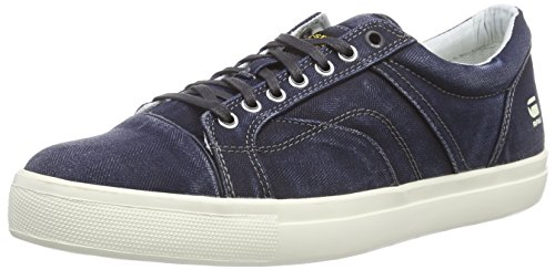 G-Star AUGUR III Kayvan Wash, Low-Top Sneaker uomo, Blu (Blau (Herringbone Denim DHB)), 45
