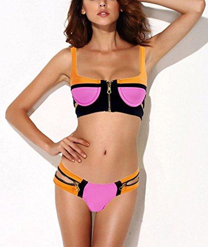 Push up Neopren Tauchanzug mit Reissverschluss vorne Bikini-gesetzte Badeanzug-Badebekleidungs-