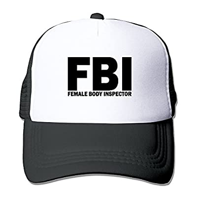 KECH Men Women FBI Federal Boobie Inspector Cap Black (5 Colors)