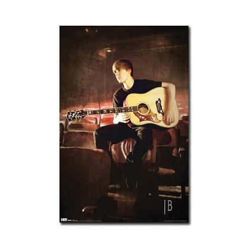 justin bieber guitar poster. Justin Bieber Guitar Music