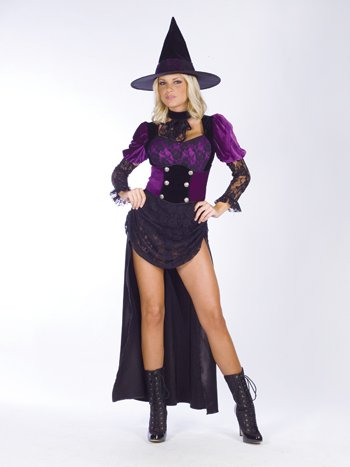 Witch Burlesque Sm/Md Halloween or Theatre Costume