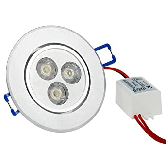 6X LED Einbauleuchte Einbaustrahler Einbau Strahler Decken Lampe Kaltweiß 3W Set