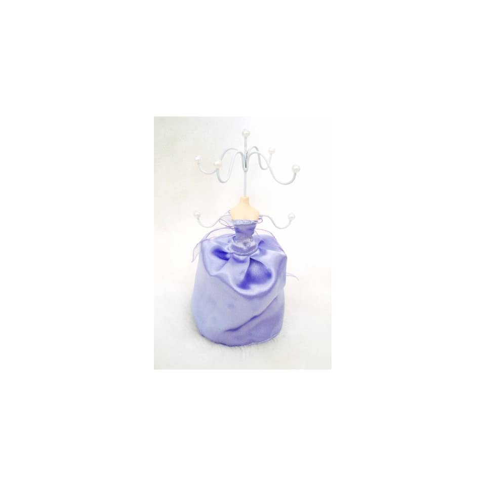 Purple Gown Mannequin Jewelry Holder Stand Display #101