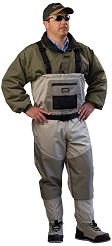 buy Caddis Men's Attractive 2-Tone Tauped Deluxe Breathable Stocking Foot Wader, X-Large(DOES NOT INCLUDE BOOTS) for sale