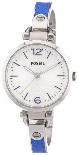 Fossil ES3255 - Reloj analógico de cuarzo para mujer con correa de acero inoxidable, color azul