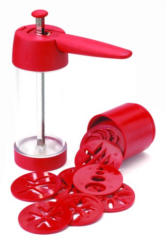 KitchenAid Cookie Press with 16 Discs, Red