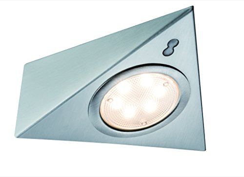 Paulmann mobili ABL Set 3eck. LED PIR 3x 2,8W 12VA 230/12V, ferro spazzolato/vetro