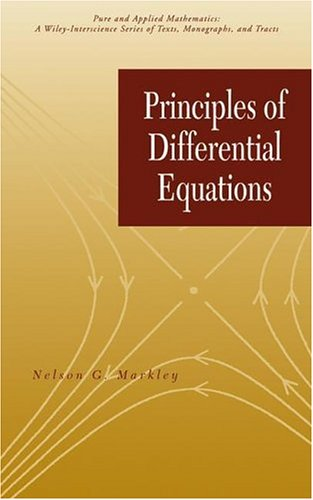 Principles of Differential Equations (Pure and Applied...