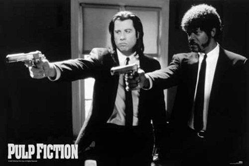 Pulp Fiction-Guns--Maxi Poster, pressione, Poster cinematografico di Quentin Tarantino Uma Thurman John Travolta-dimensioni 91,5x 61cm + accessori