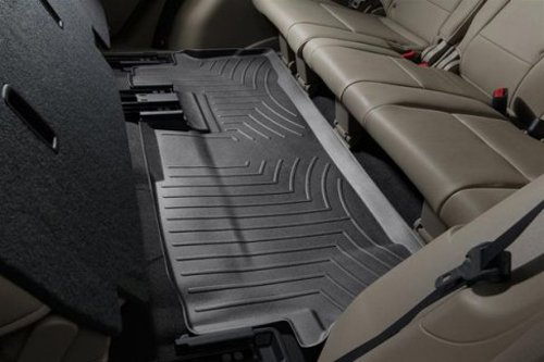 WeatherTech Custom Fit Rear FloorLiner for Honda Pilot (Black) (Honda Pilot 2014 Weathertech compare prices)