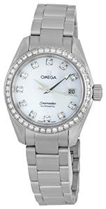 Omega Women's 2565.75.00 Seamaster Aqua Terra Automatic Diamond Bezel Mother-Of-Pearl Dial Watch
