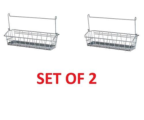 Ikea Steel Wire Basket Spice Rack Hang or Free Standing Kitchen Storage Holder Bygel (Pack of 2)