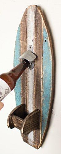 Wooden Surfboard Bottle Opener (Bottle Opener Board compare prices)