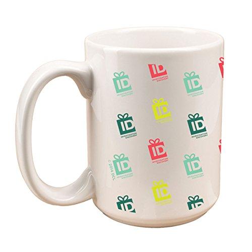 Id Holiday Multi-Color Gift Box Jumbo Mug - White
