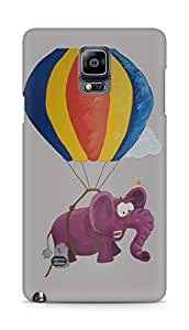 Amez designer printed 3d premium high quality back case cover for Samsung Galaxy Note 4 (Purple elephant)