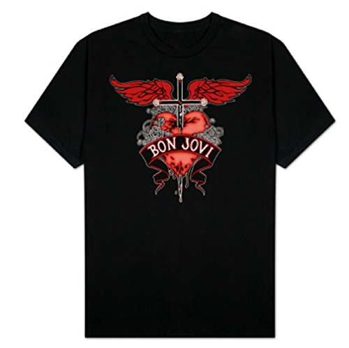 Bon Jovi Heart Dagger Tattoo Unisex Adult T-shirt,