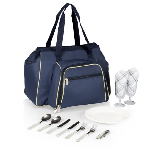 Picnic Time Toluca Insulated Cooler Tote (Navy) front-610611