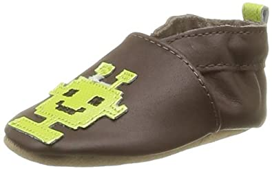Robeez Baby Boys' Rb37750 8Bit An First Walking Shoes Brown Marron (Marron 9) 17-18