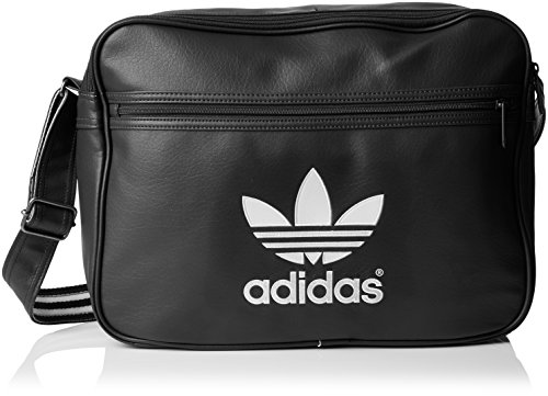 Borsa a tracolla adidas Airliner  Grigio Dgh Solid Grey/White 10 x 38 x 28 cm, 10 Liter