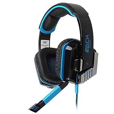 Mokingtop(TM)1PC Fashion LED Light Stereo Gaming Headphone Headset Headband with Mic for PC Game