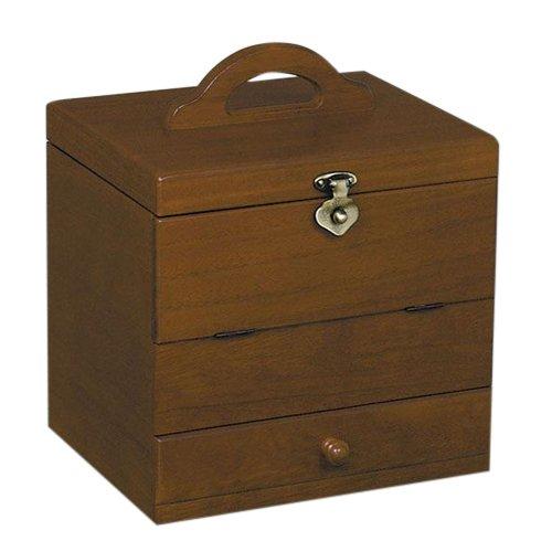取寄品 木製コスメティックボックス 鏡台 Gー1882B