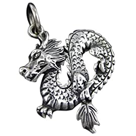 925 Silver Dragon Pendant