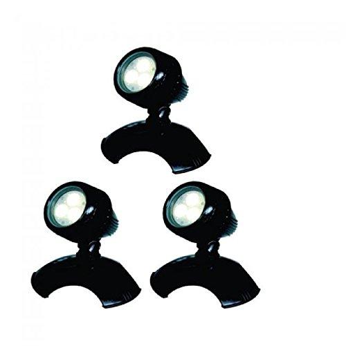 AQUAFORTE-LED-Lampes-de-bassin-et-de-jardin-Typ-HP3-1-3-x-3-W-12-V-noir