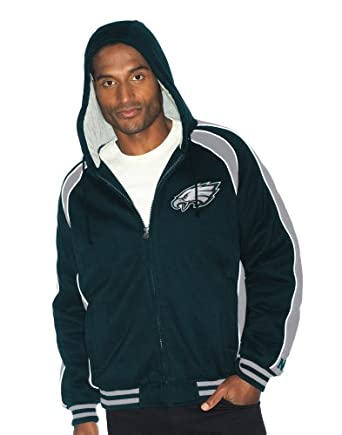 NFL Philadelphia Eagles Polyfilled Color Blocked Fleece Jacket Quilt Lined Mens by G-III Sports