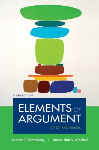 Elements of Argument: A Text and Reader,  Ninth Edition