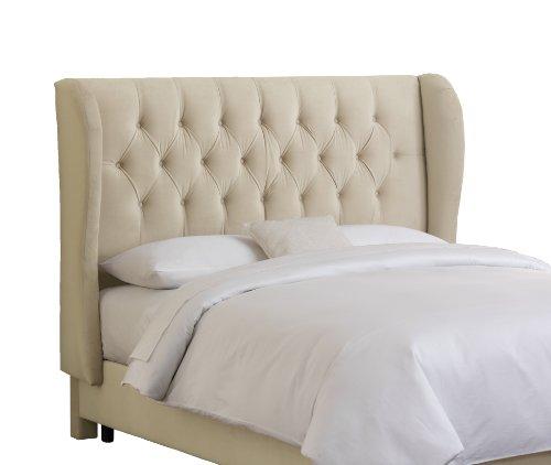 Buy Skyline Furniture Velvet Tufted Queen Wingback