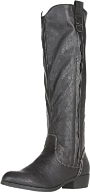 MIA Women's Cavalry Knee-High Boot,Black,6 M US